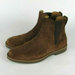 VINCE Suede Light Brown Chelsea Boots Italy 9 M